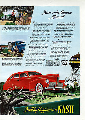 1940 Nash car ad   For $ 795 , Springtime Outdoors driving-[-153