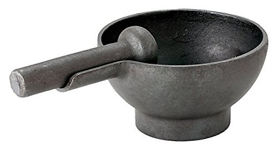 Cast Iron Pestle and Mortar Kitchen Set Robert Welch, Matt Black Finish Large