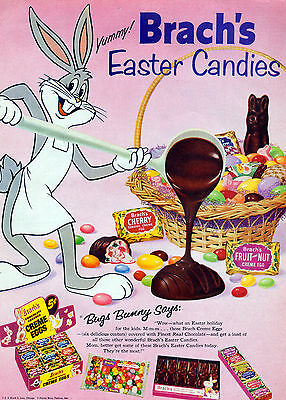 1950's Bugs Bunny Comic movie ad for Brach's Candy ad- Easter chocolates-[-853