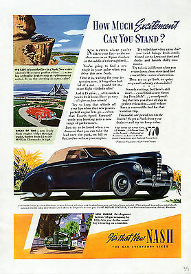 1939 Nash Car Ad -Convertible Coupe ----t321