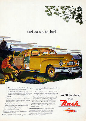 """1947 Nash """"600 """" car ad Weled body not Bolted -[-170"""