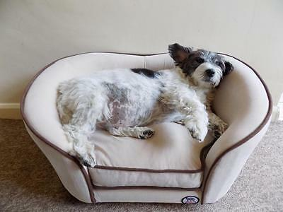 Millies Cream Pet Sofa Bed Dog Cat Puppy Couch Soft Cushion Chair Seat Lounger