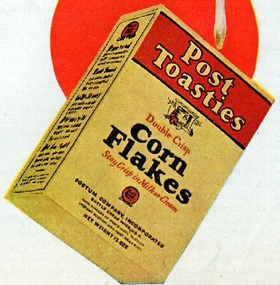 1929 Post Toasties Corn Flakes Cereal ad --p-138