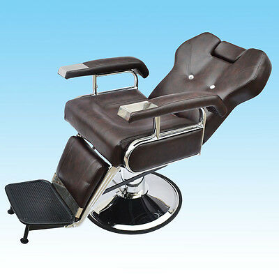 Barber Chair Salon Hydraulic Reclining Hairdressing Tattoo Threading Shaving #5