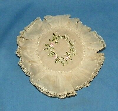 Antique Embroidered Lace Pin Cushion
