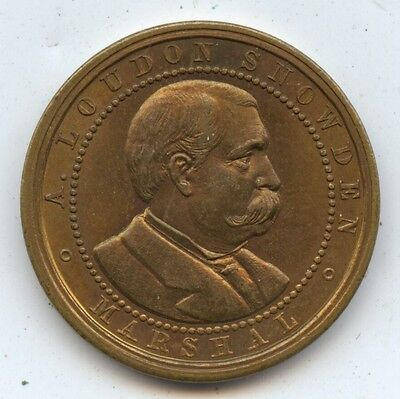 1887 Loudon Snowden Medal (#7410) Centennial of the Constitution. Nice Unc.
