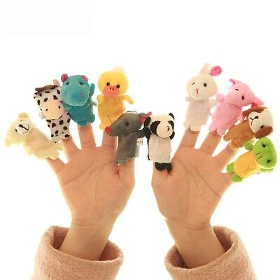 10 Pcs Family Finger Puppets Cloth Doll Baby Cartoon Educational Hand Animal Toy