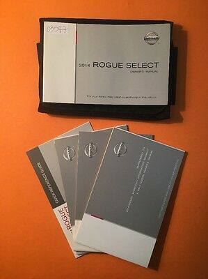 2014 Nissan Rogue Select Owners Manual [03547] 5 Book Set with Case