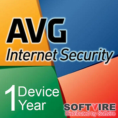 AVG Internet Security 2017 Antivirus 1 Year 1 Device