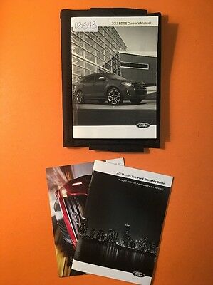 2013 Ford Edge Owners Manual [03543], 3 Book Set with Case