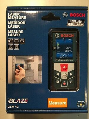 BOSCH GLM 42 135ft LASER MEASURE  **Fast Shipping**