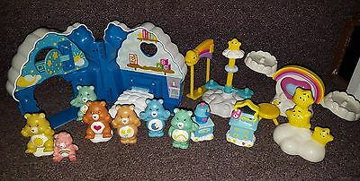 CARE BEARS TCFC lot Bedtime Bear house + figures and extras