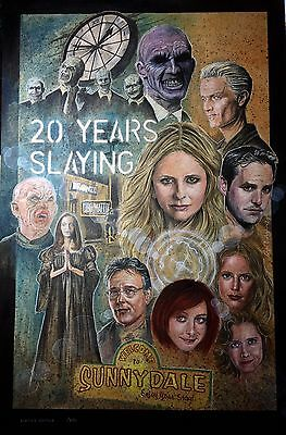 Buffy Limited Edition Prints (250) Signed By Nicholas Brendon