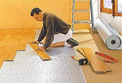 Laminate, Wood, Parquet Flooring; Reflective Insulation Mat, Underlay