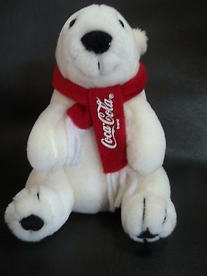 "Dankin ""COCA-COLA POLAR  BEAR"" Advertising Stuffed Animal Toy"