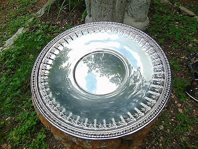 Reed and Barton Silverplate Charger Plate Serving Platter 1202 Vintage 10.5 inch