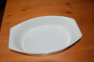 White 1 Quart Oval Ceramic Casserole Dish