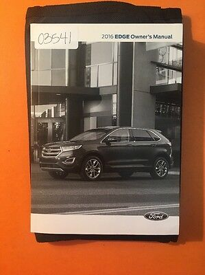 2016 Ford Edge Owners Manual with Case [03541]
