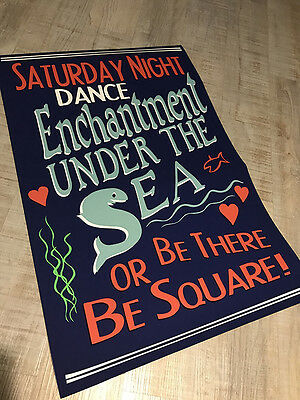 Back to the future PROP REPLICA - Enchantment under the sea dance poster