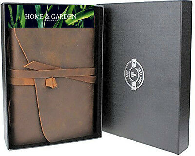 LEATHER JOURNAL Vintage Leather Bound Travel Diary Blank Notebook to Write In fo