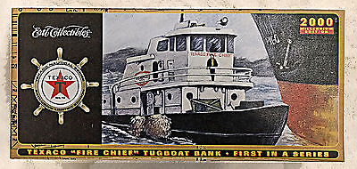 """ERTL Collectibles - Texaco """"Fire Chief"""" Tugboat Bank - First in a Series - 2000"""
