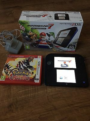 Nintendo 2ds Boxed With Mario & Pokemon Games 3ds