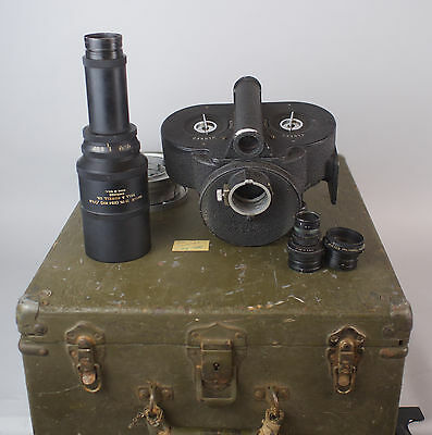 WWII Bell & Howell Eyemo 71-Z Type A-4 35mm Bomb Spotting US Army Camera w/ Lens
