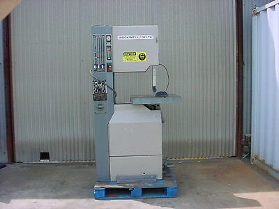 Rockwell / Delta--Metal / wood  band saw vertical ALL Original