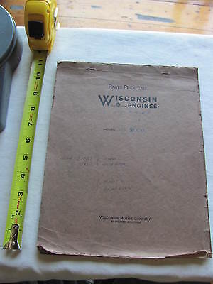 Wisconsin Engines Model AS 2006 Parts Price List Book Manual