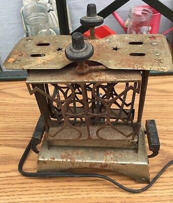 ANTIQUE STAR ELECTRIC TOASTER WITH Not ORIGINAL CORD TESTED WORKING