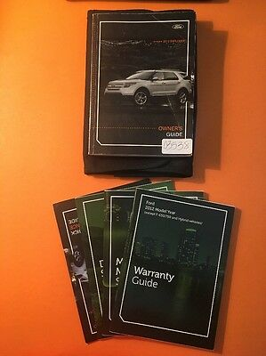 2012 Ford Explorer Owner's Manual [03538] 5 Book Set With Case
