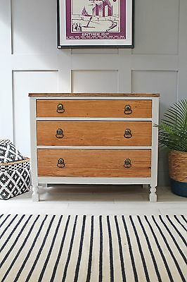 Stripped Oak Chest Of Drawers, Delivery Available