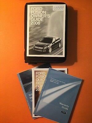 2006 Ford Fusion Owner's Manual [03537], 4 Book Set With Case