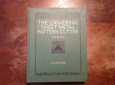 Vintage 1937 Universal Sheet Metal Pattern Cutter Volume 1 Book Neubecker