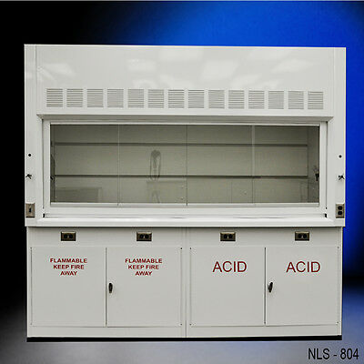 Chemical 8' Laboratory Fume Hood NEW W/ FLAMMABLE & ACID CABINETS