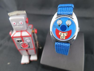 Vintage Kids Watches HAPPYTIME 1970's Sears mechanical jump hour with bouncing