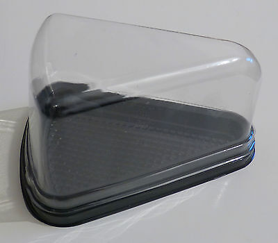 15pcs Individual Clear Plastic Cake Muffin Baking Box Case Tray 12cm x 7cm x 7cm