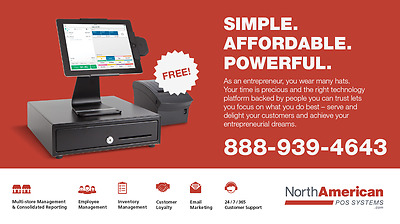 NCR Silver POS Cash Register System iPad Point of Sale Brand New