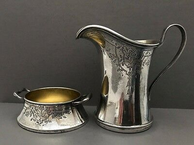 Antique Sterling Silver Creamer with Stand made by Lebkuecher & Co. 1896-1909