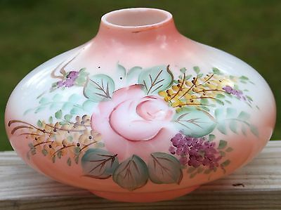 """Antique Peachy-Pink Hand Painted Gone With The Wind - 11"""" Base Only"""