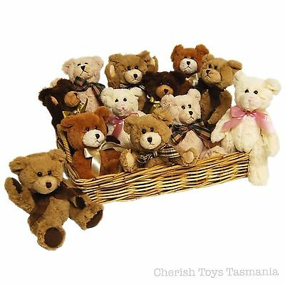 Classic Jointed Teddy Bear Small 20cm Soft Plush Kids Cuddly Traditional Toy