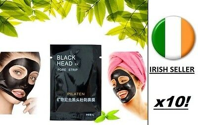 Blackhead Remover Deep Cleansing Spot Peel Acne Black Mud Face Mask Eye x10