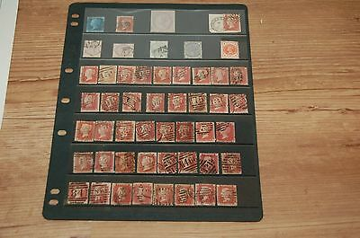 SG43 / 44GB and other QV Victoria stamps sheet of mixed plates