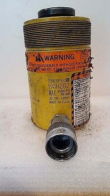 """Enerpac Hydraulic RAM RCH #202 20 Tons - 10,000 PSI -  2"""" Stroke Hollow Plunger"""