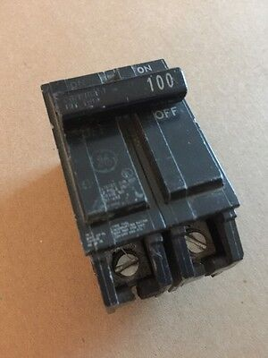 GE 2 Pole 100 Amp Plug In Circuit Breaker THQL21100