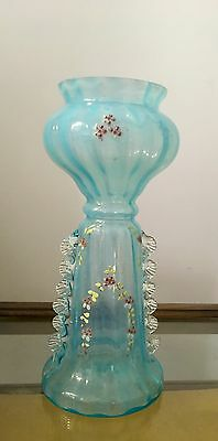 Opalescent hand painted vase