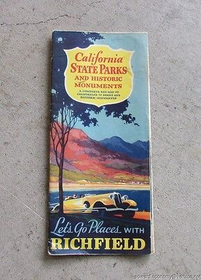 1935  Richfield Oil Company California State Parks & Monuments Road Map