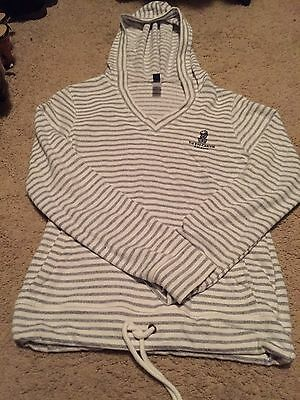 Ritz Carlton Women's Terry Cloth Hooded Pullover Size Small