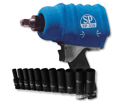 "SP Tools Impact Wrench 1/2"" Dr + BONUS 11 Piece Deep Socket Set SP-1140EXB"