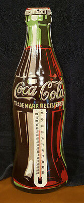 Vintage 1998 Coca Cola Company Thermometer  Coke Tin Sign Advertising